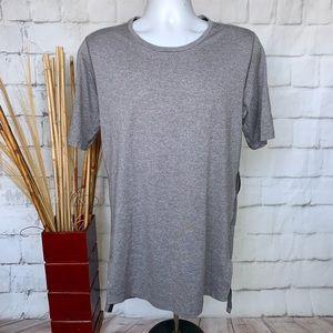 Nike DRI-FIT Short Sleeve Training Shirt Grey Sz M